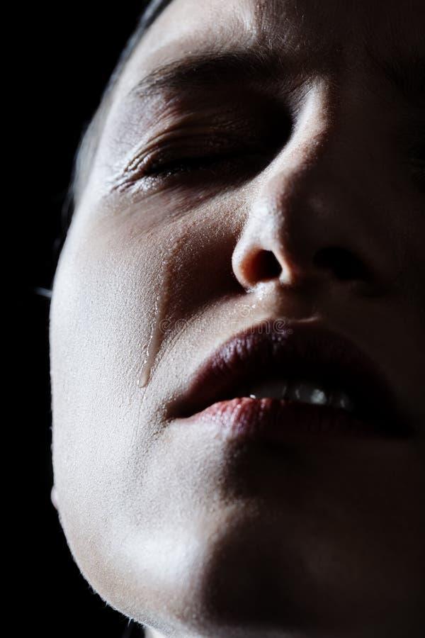 Het droevige vrouw schreeuwen royalty-vrije stock fotografie