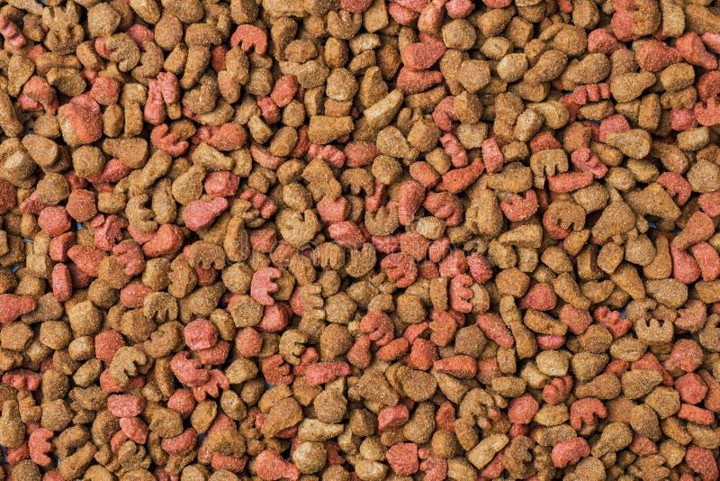 Het droge Voedsel van de Kat Volledige bevolking Achtergrond van de korrels stock afbeeldingen