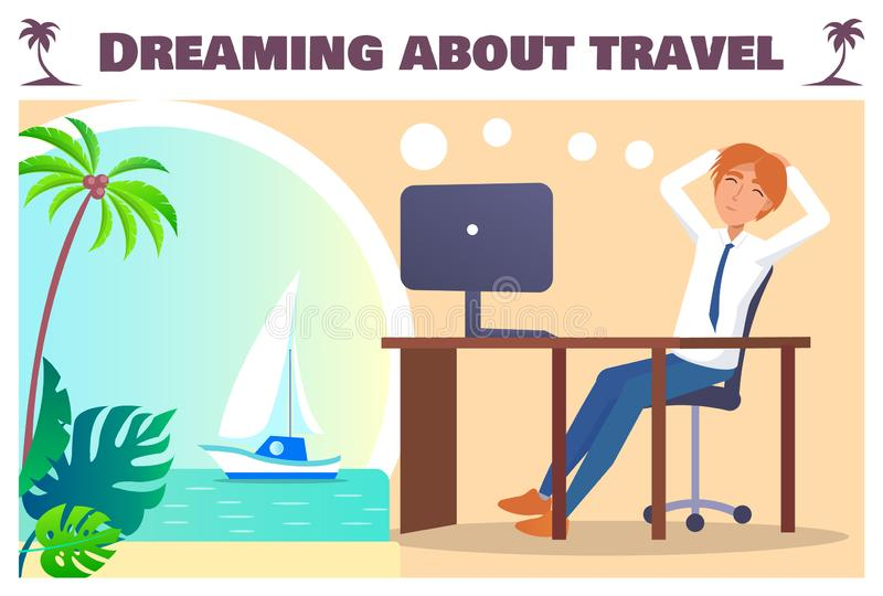 Het dromen over Reisbanner met Beambte royalty-vrije illustratie