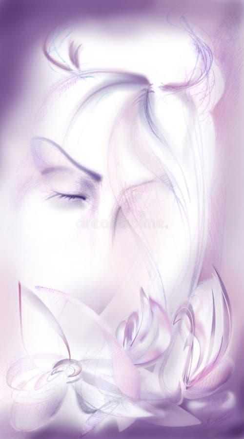 Het Dromen van het meisje stock illustratie