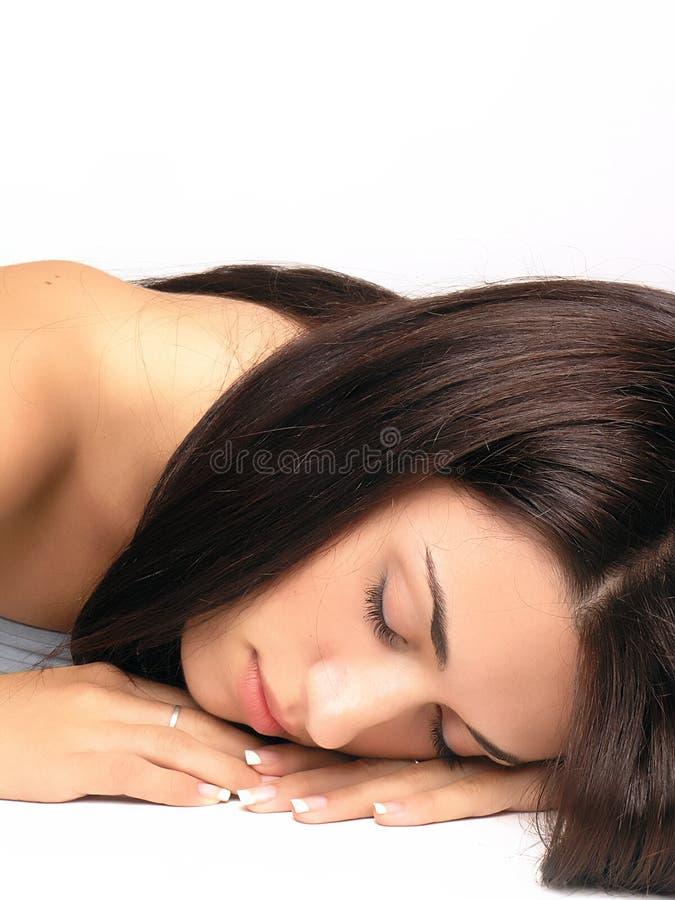 Het dromen van het meisje stock foto
