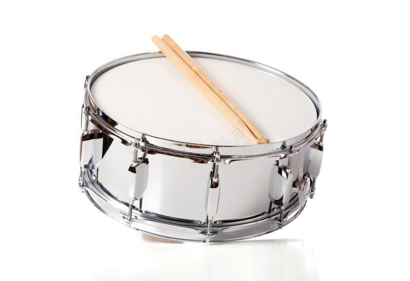 Het Drumstel van de strik met Stokken stock afbeelding