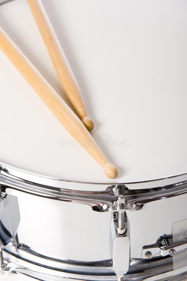 Het Drumstel van de strik met Stokken stock fotografie