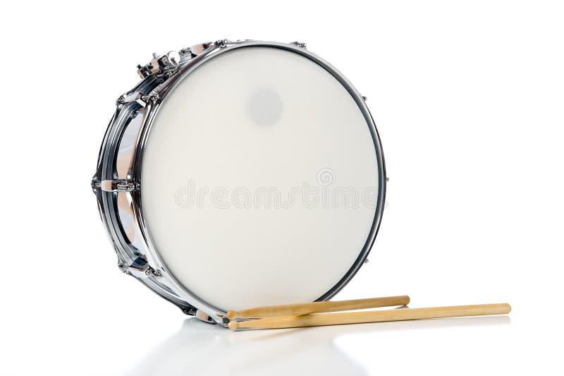 Het Drumstel van de strik met Stokken royalty-vrije stock foto