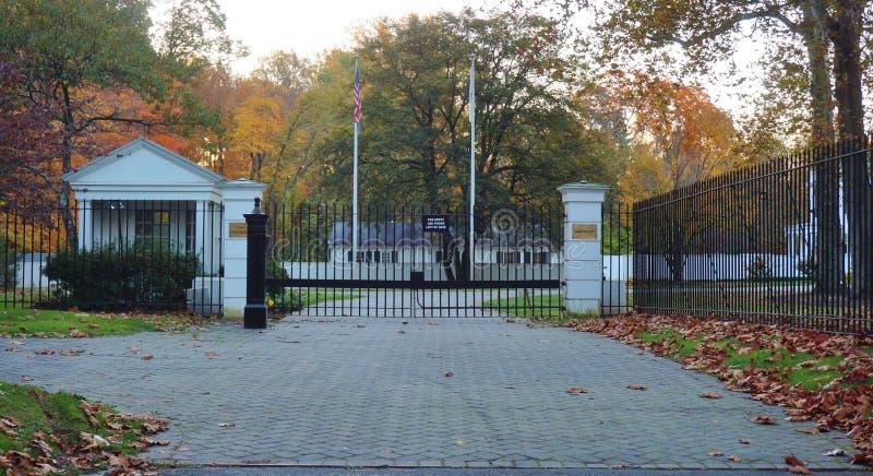 Het Drumthwhacket-Herenhuis in Princeton, officiële woonplaats van de Gouverneur van New Jersey royalty-vrije stock fotografie