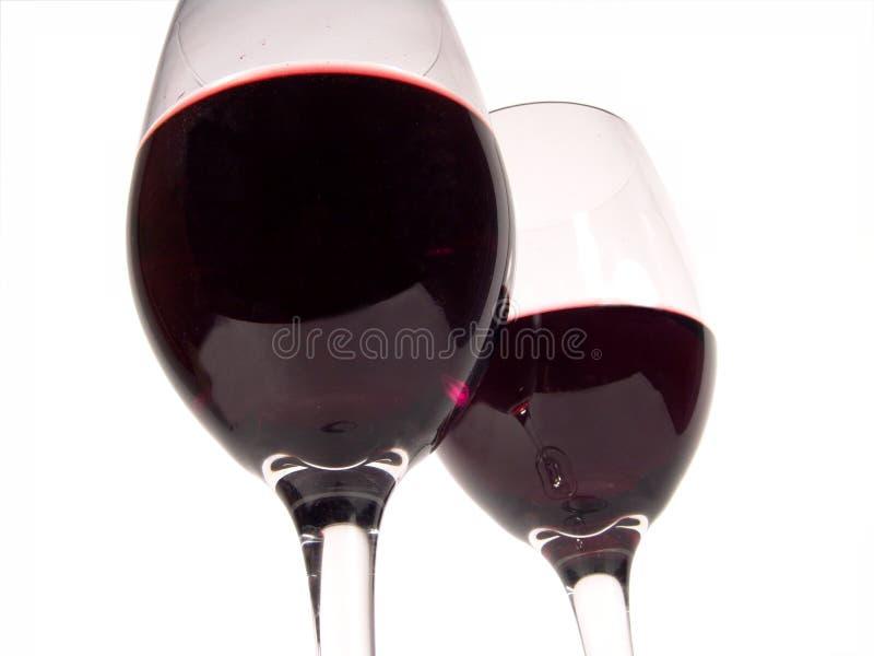 Het Dubbel van de rode Wijn royalty-vrije stock fotografie