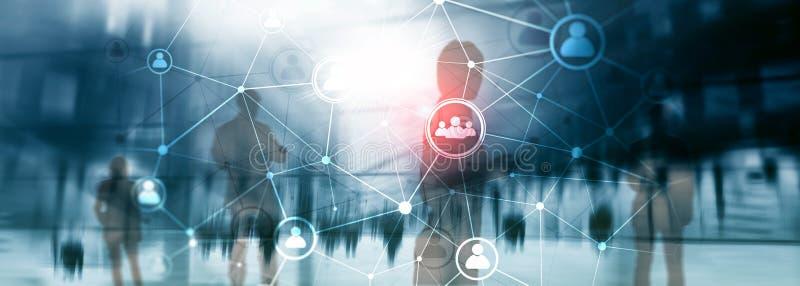 Het dubbele netwerk structureà ¾ à ¾ u van blootstellingsmensen - van de Personeelsbeheer en rekrutering concept stock illustratie
