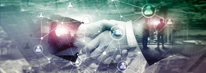 Het dubbele netwerk structureà ¾ à ¾ u van blootstellingsmensen - van de Personeelsbeheer en rekrutering concept royalty-vrije illustratie