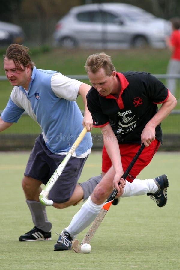 Het duel van het hockey royalty-vrije stock afbeelding