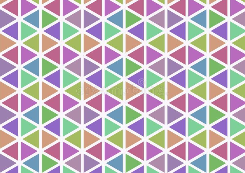 Het duidelijke patroon van de kleurendriehoek stock afbeelding