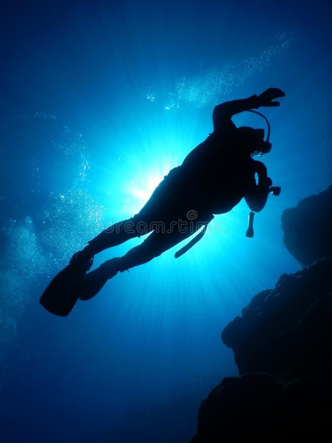 Het duiken Middellandse-Zeegebied royalty-vrije stock fotografie