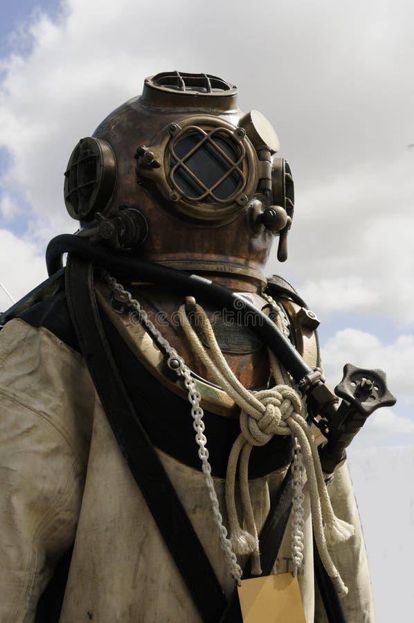 Het duiken van de marine helm stock foto's