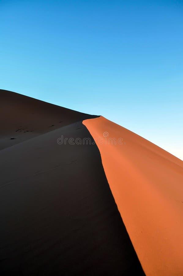 Het duin van het zand royalty-vrije stock foto's