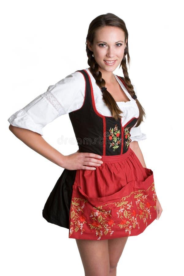 Het Duitse Glimlachen van de Vrouw royalty-vrije stock afbeelding