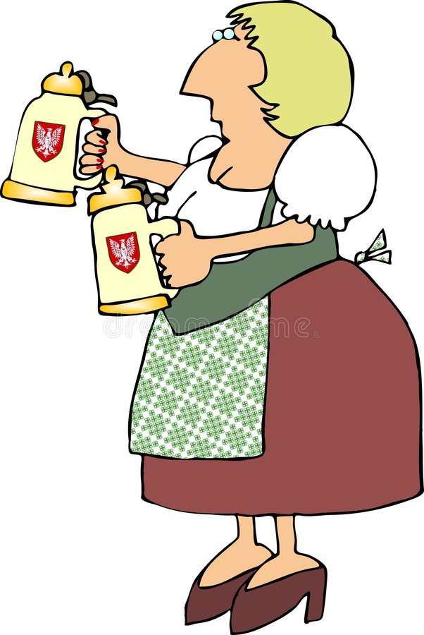 Het Duitse Meisje van het Bier stock illustratie