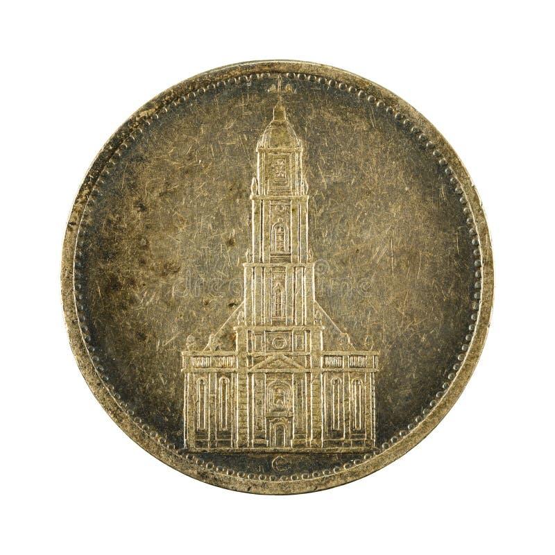 5 het Duitse omgekeerde van het reichsmarkmuntstuk 1934 stock afbeeldingen