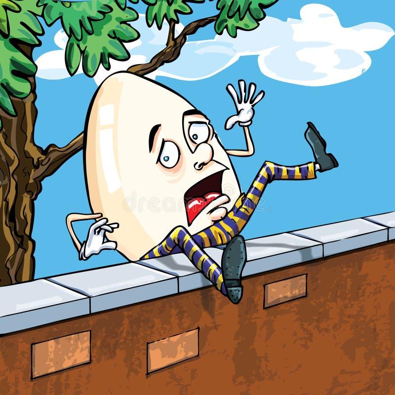 Het Dumpty Vallen Van Humpty Van De Muur Stock Foto