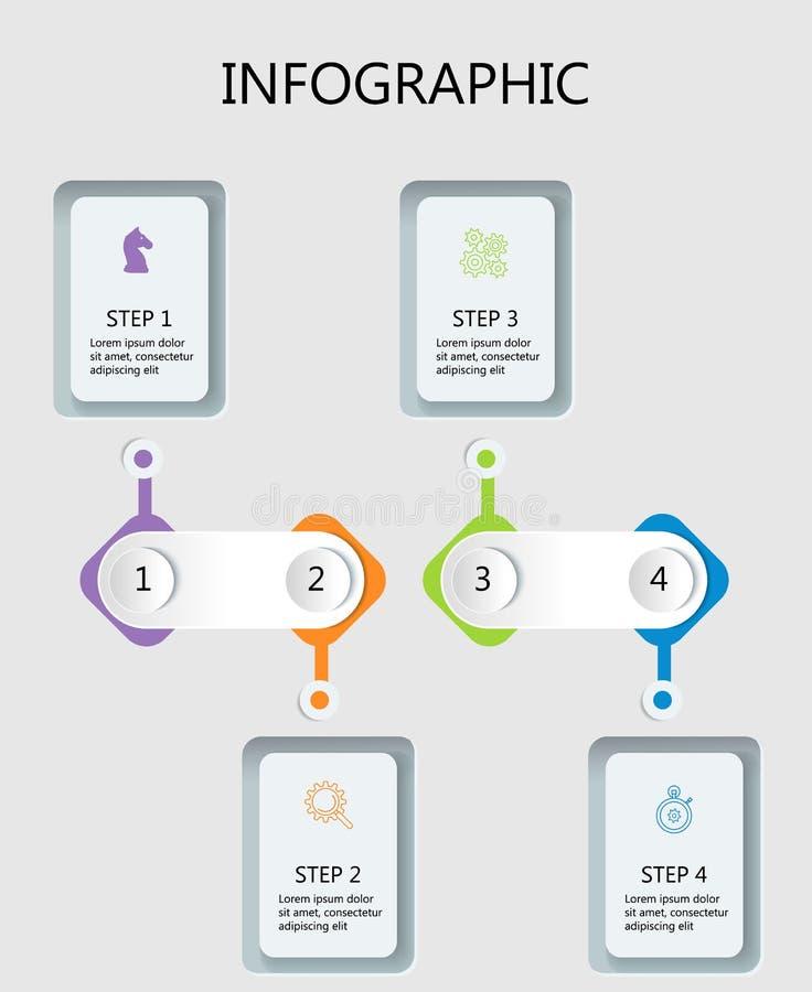 Het dunne ontwerp van lijn minimale Infographic royalty-vrije illustratie