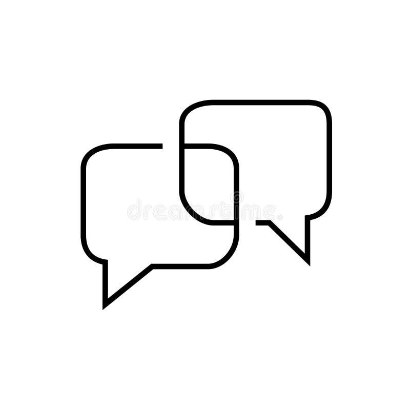 Het dunne pictogram van het lijnbericht royalty-vrije illustratie