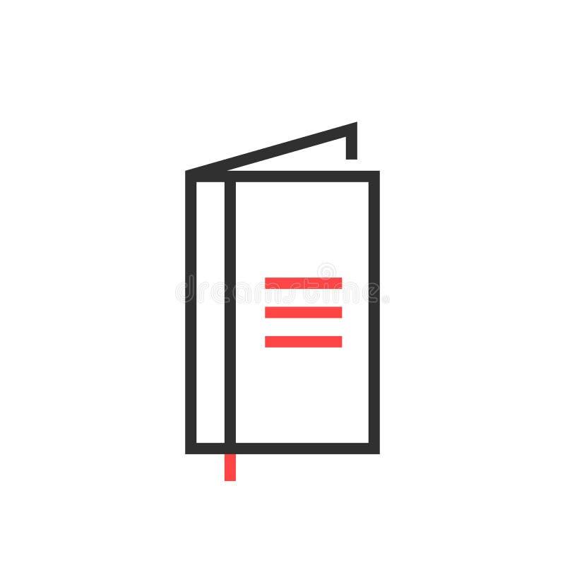 Het dunne pictogram van het lijn zwarte eenvoudige notitieboekje royalty-vrije illustratie