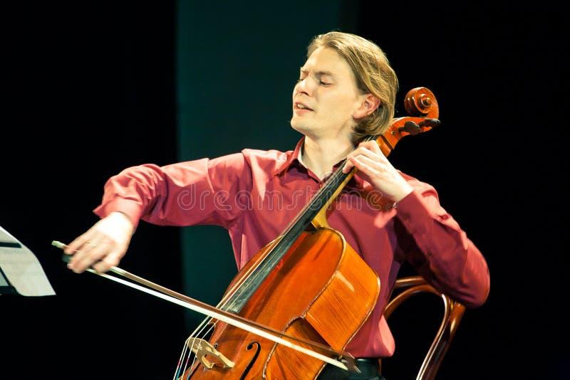 Het Duo van Beethoven - Fedor Elesin en Alina Kabanova stock foto's