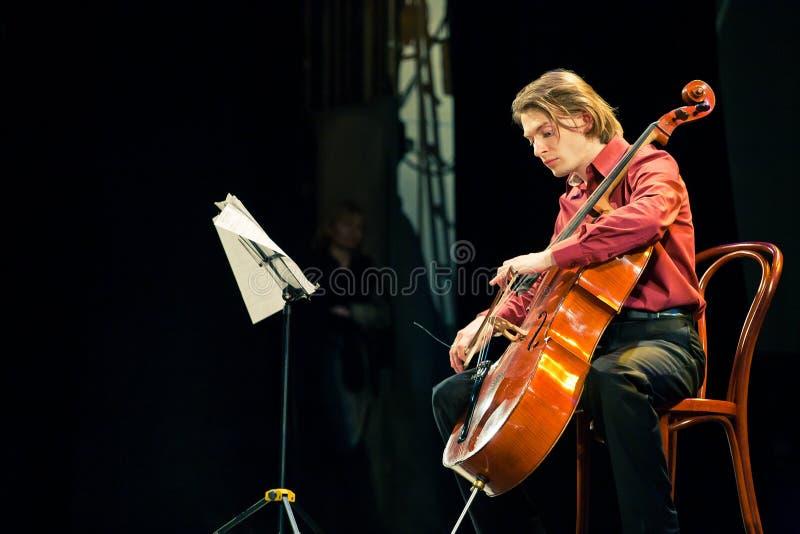 Het Duo van Beethoven - Fedor Elesin en Alina Kabanova royalty-vrije stock foto