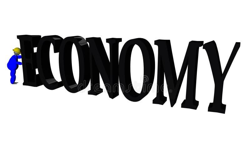 Het duwen economie royalty-vrije illustratie
