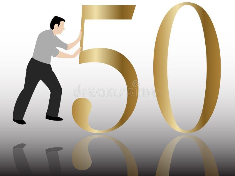 Het duwen van gelukwens 50 vector illustratie