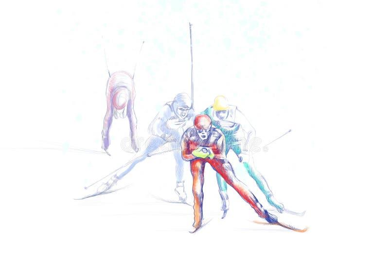 Het Dwars Land Ski?en Royalty-vrije Stock Afbeelding