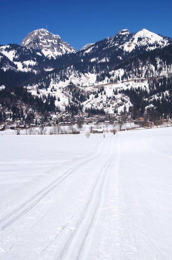 Het dwars ski?en van het land stock foto