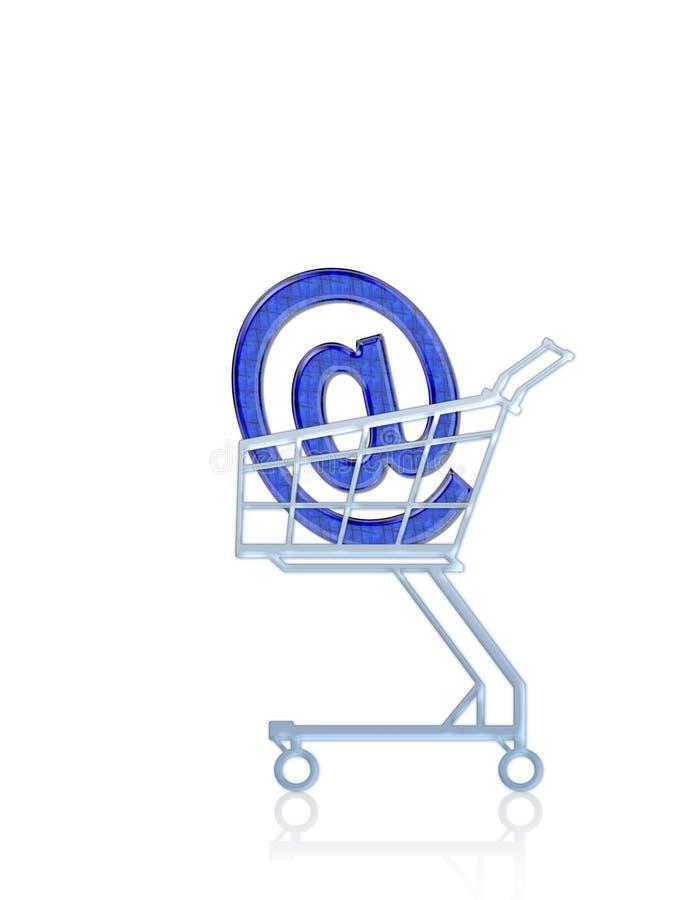 Het e-mail adres koopt stock illustratie