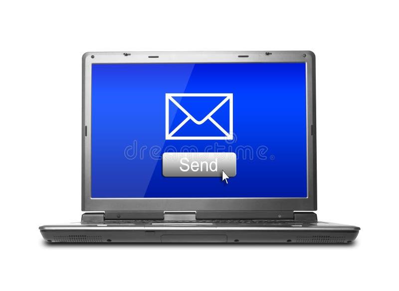 Het e-mail verzenden stock fotografie