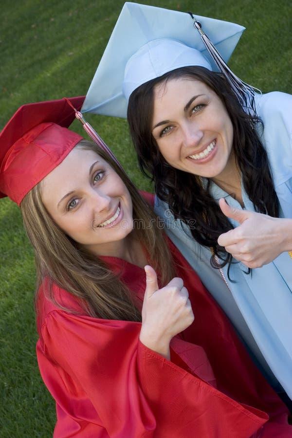 Het een diploma behalen stock foto's