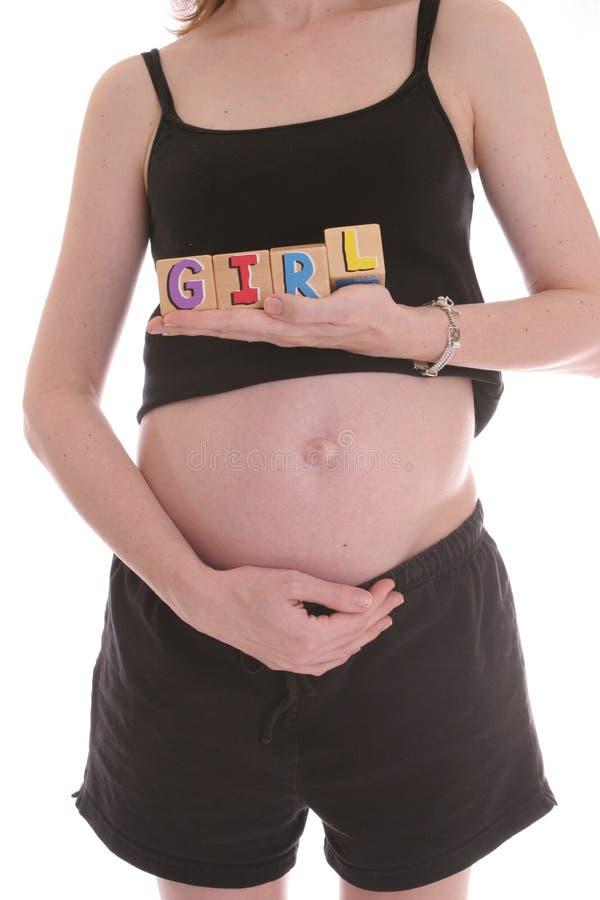 Download Het is een meisje stock foto. Afbeelding bestaande uit zwanger - 296890