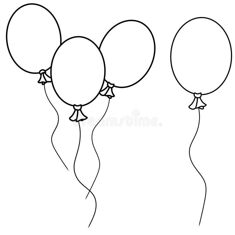 Het eenvoudige Art. van de Lijn van Ballons royalty-vrije illustratie