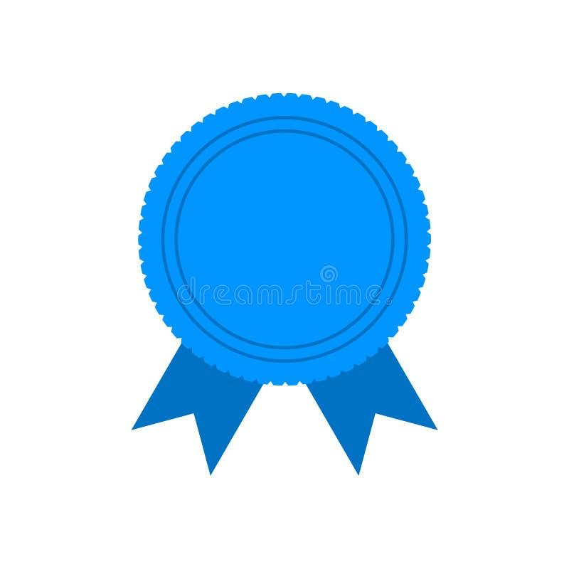Het eenvoudige Blauwe Lint van de Winnaarprijs royalty-vrije illustratie