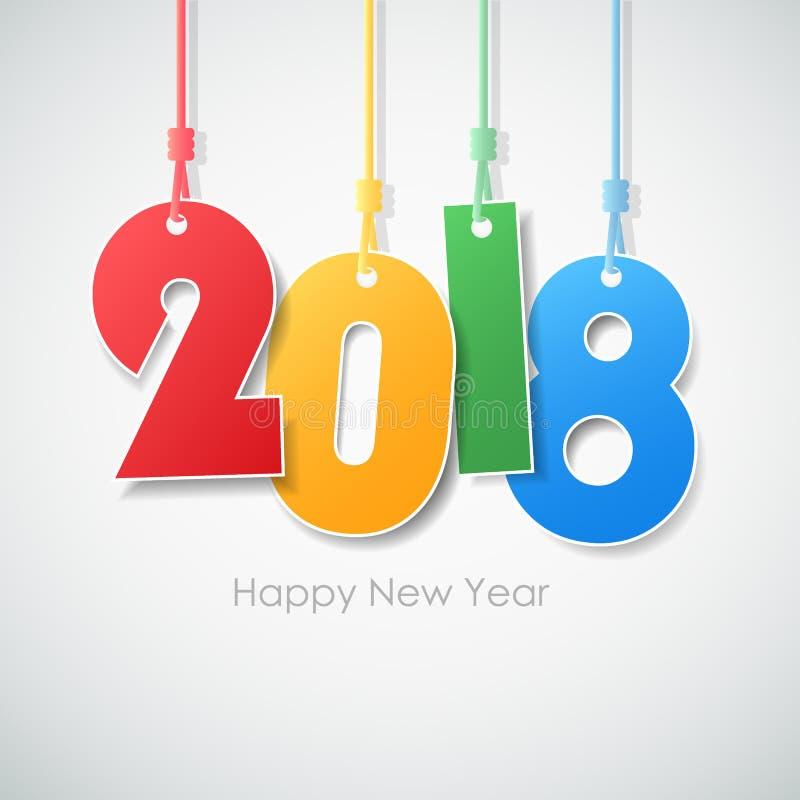 Het eenvoudige gelukkige nieuwe jaar 2018 van de groetkaart