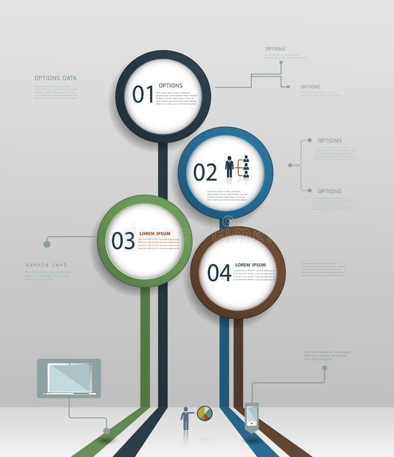 Het eenvoudige Infographic-malplaatje van het elementenontwerp stock illustratie