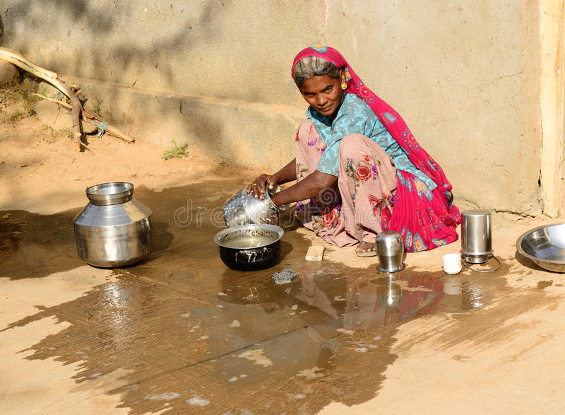 Het eenvoudige leven in de staat van Gujarat in India royalty-vrije stock fotografie