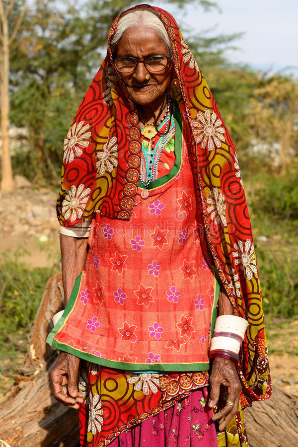 Het eenvoudige leven op de woestijn in Gujarat royalty-vrije stock afbeelding