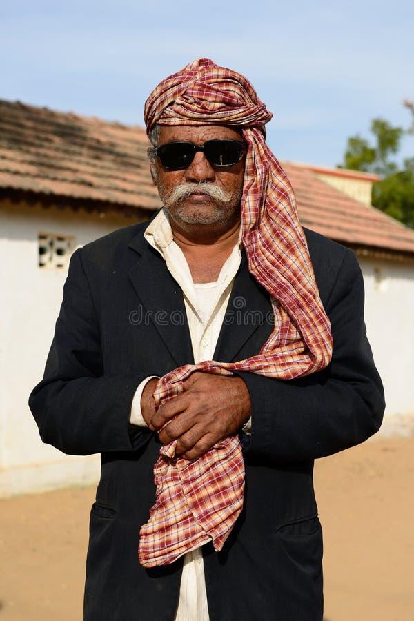 Het eenvoudige leven op de woestijn in Gujarat stock foto's