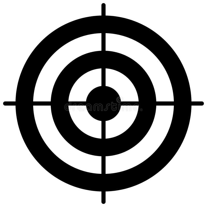 Het eenvoudige malplaatje van het cirkeldoel Bullseyesymbool vector illustratie
