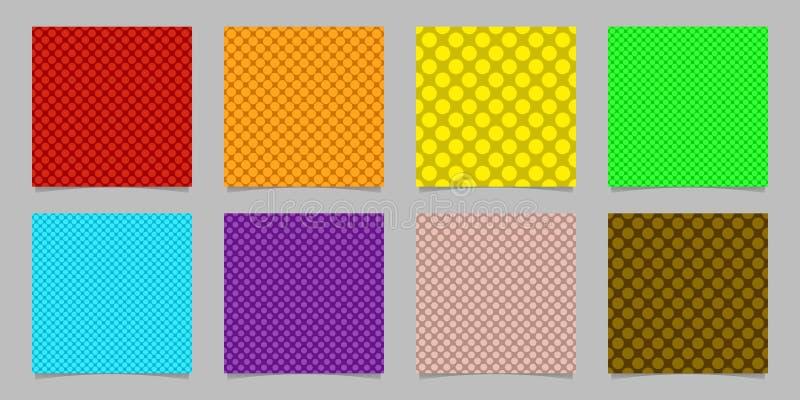 Het eenvoudige naadloze punt achtergrondpatroonontwerp plaatste - geregelde vectorgrafiek van gekleurde cirkels stock illustratie
