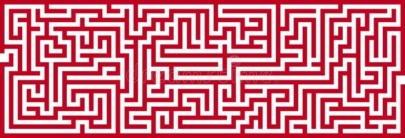 Het eenvoudige Knipsel van het Labyrint royalty-vrije illustratie