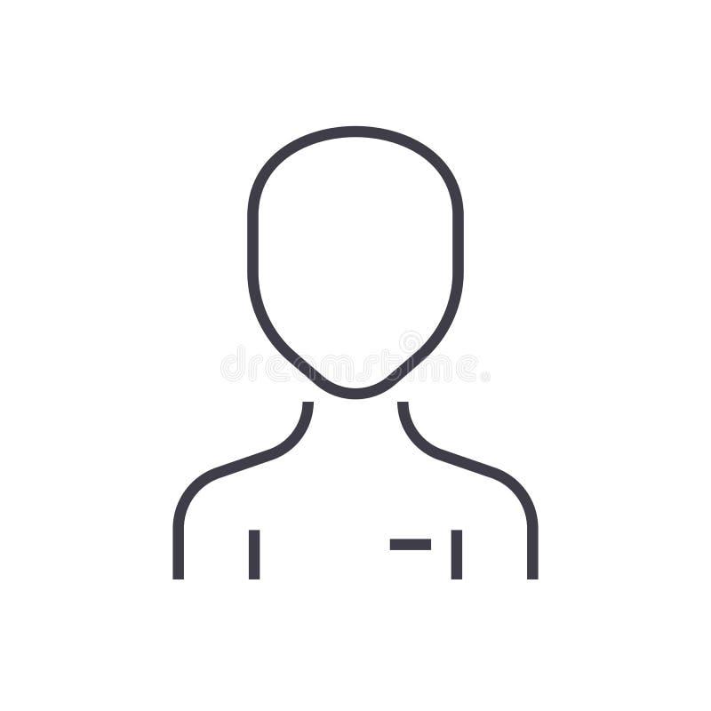Het eenvoudige pictogram van de gebruikers vectorlijn, teken, illustratie op achtergrond, editable slagen vector illustratie