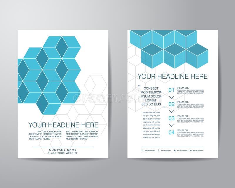 Het eenvoudige vakje malplaatje van de het ontwerplay-out van de brochurevlieger in A4 grootte, vec stock illustratie
