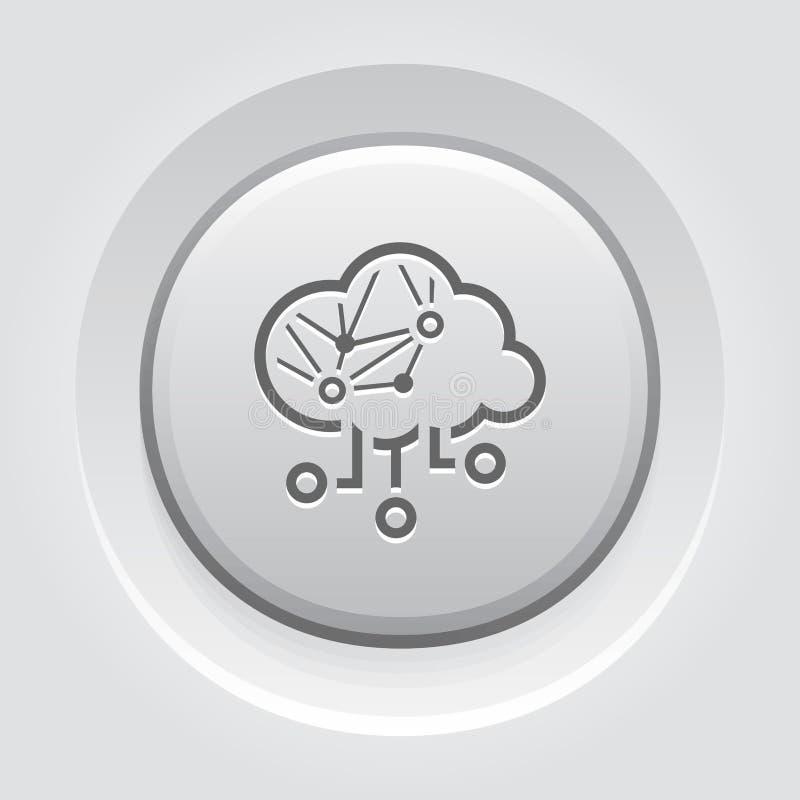 Het eenvoudige Vectorpictogram van Cloud Computing royalty-vrije illustratie