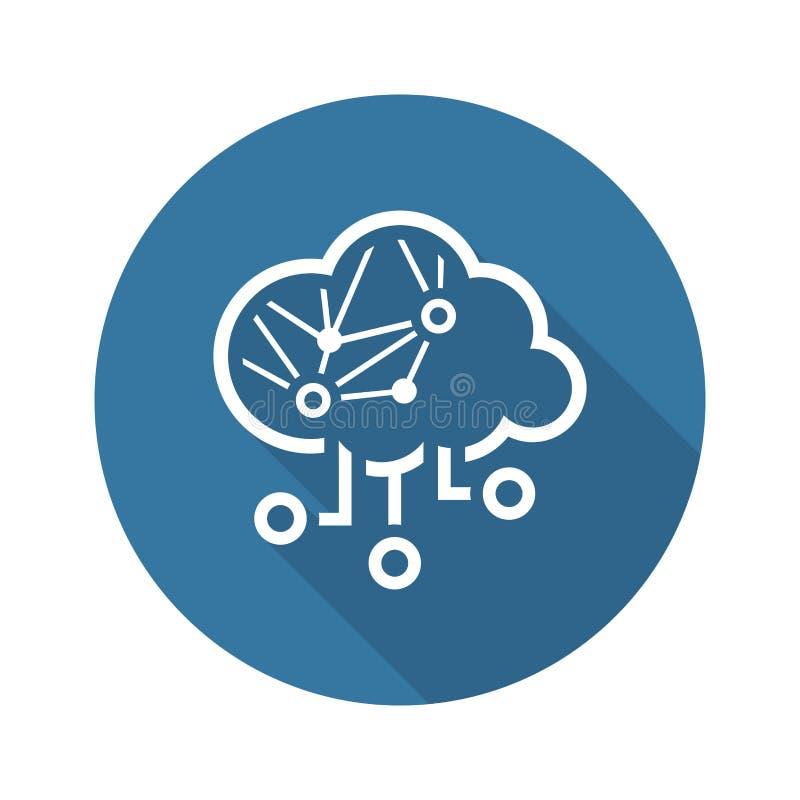 Het eenvoudige Vectorpictogram van Cloud Computing stock illustratie