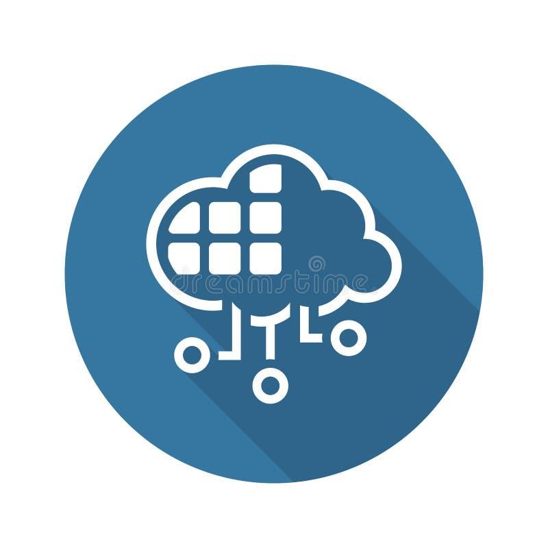 Het eenvoudige Vectorpictogram van de Wolkendiensten stock illustratie