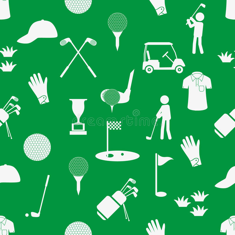 Het eenvoudige witte en groene naadloze patroon eps10 van de golfsport stock illustratie